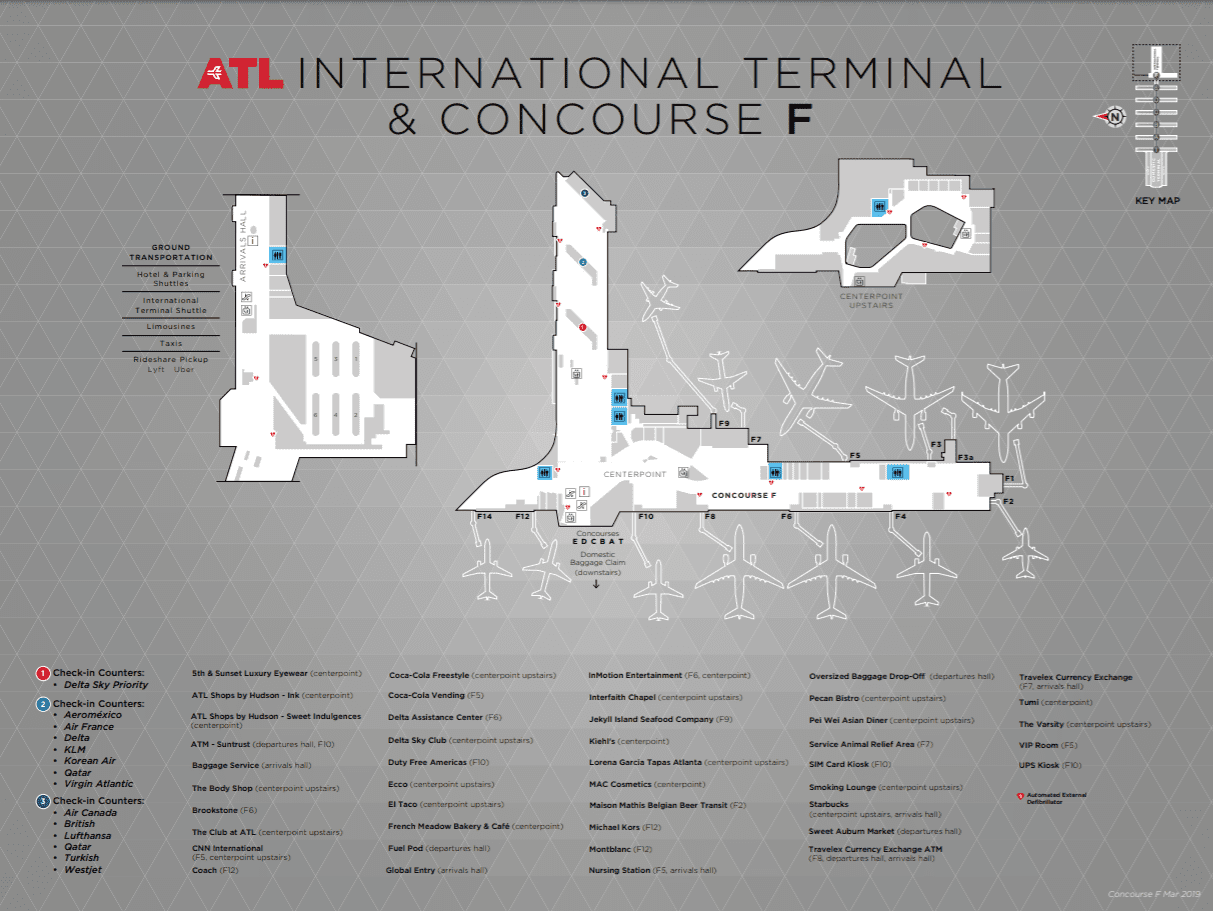 International Terminal Map