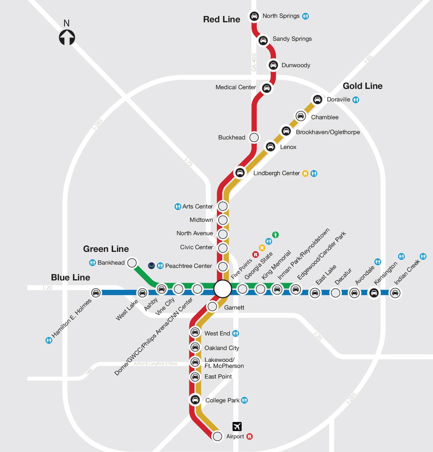 MARTA Train Map